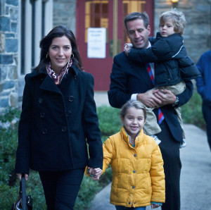 Beau Biden and his family: Wife Hallie Biden (Left) Daughter Natalie (Middle)  and Son Hunter (Right).  Special to The News Journal/SAQUAN STIMPSON