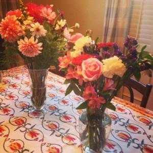 Joyous flowers from friends